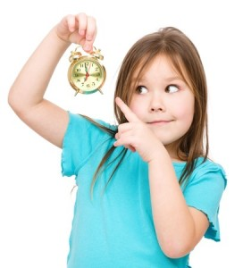 girl with clock