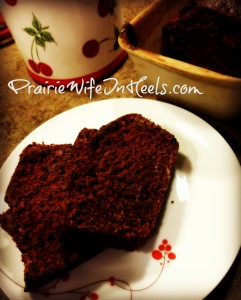 Chocolaty Chocolate chip zucchini bread