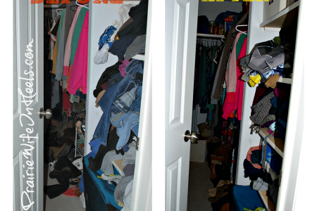 messy clean closet before and after