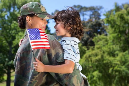 female american solider
