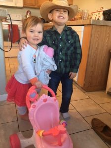 Little Miss H and Cowboy C