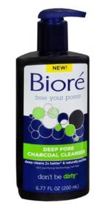biore charcoal wash