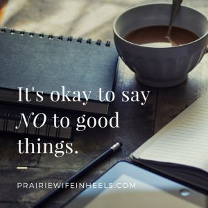 its ok to say no