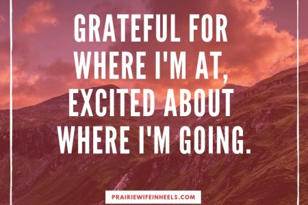 grateful and excited